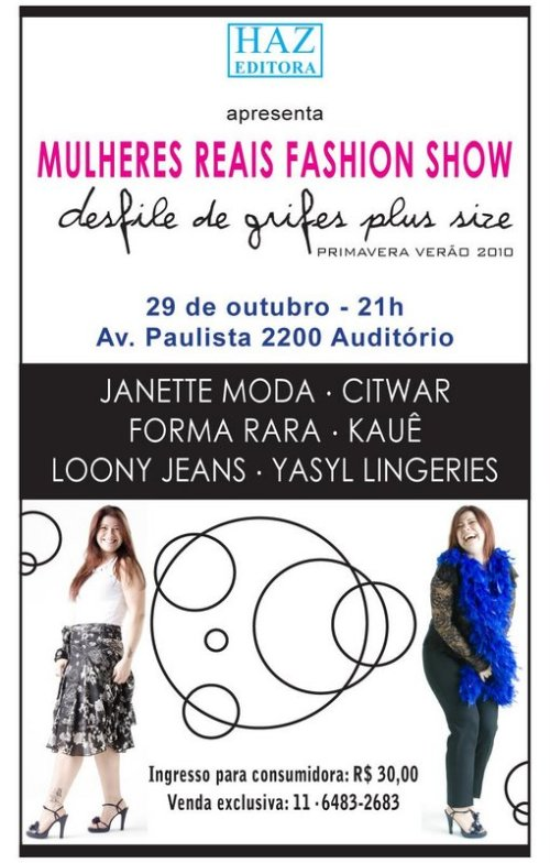 mulheres reais fashion show