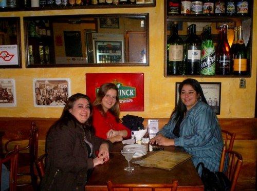 No Frangó com a Danni e a Rê, no dia em que contei sobre a Terapia do Espelho!