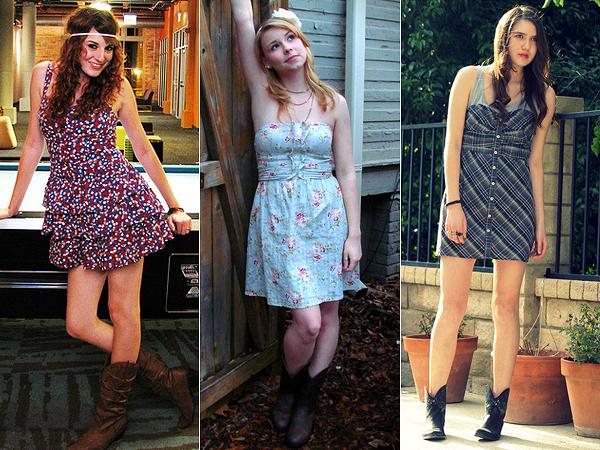 be09f05eb A combinação entre botas e vestidos já se tornou uma das queridinhas do dia  a dia das mulheres. Em diferentes estilos