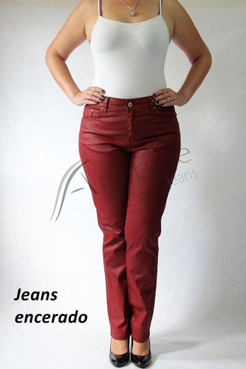 jeans encerado plus size