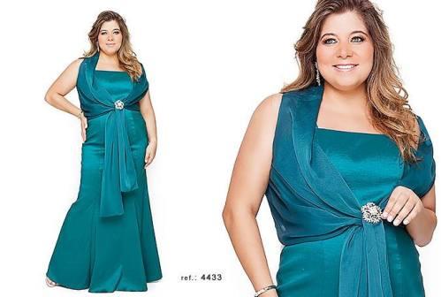 vestido de festa plus size 9
