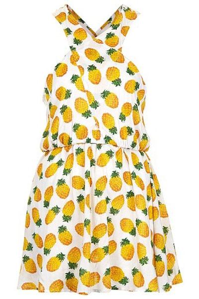 vestido de frutas