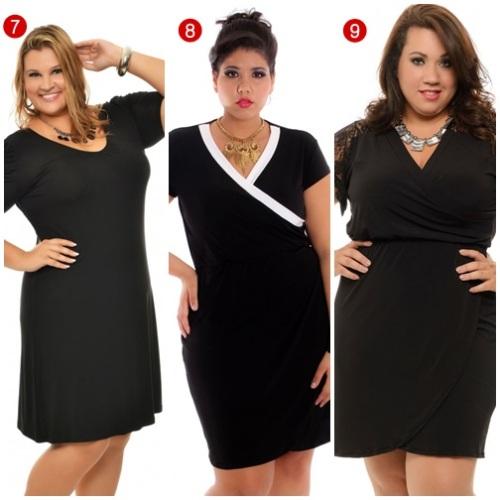 vestido preto plus size